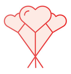 balloons like heart flat icon love balloons pink vector image