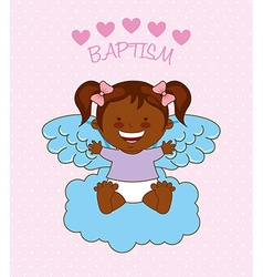 baptism angel design vector image