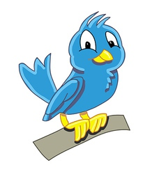 Birdy blue vector
