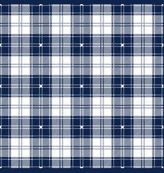 Blue and white tartan plaid seamless pattern vector