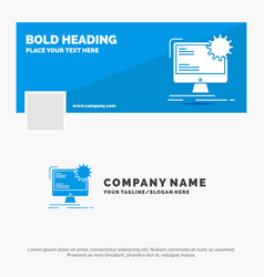 blue business logo template for internet layout vector image
