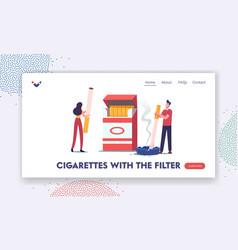 characters smoking addiction and bad unhealthy vector image