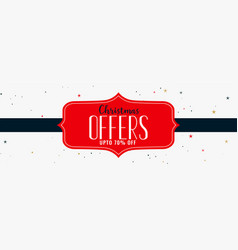 Christmas offers and sale banner design vector