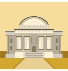 Classic Theatre Building Facade vector image