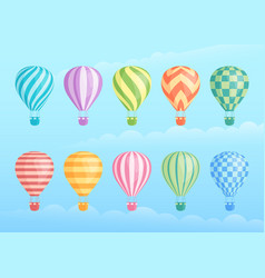 Collection colorful hot air balloons vector