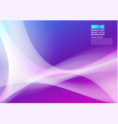 colorful waves geometric abstract background vector image