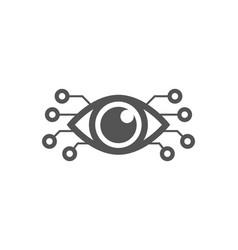 cyber eye symbol icon logo concept vector image