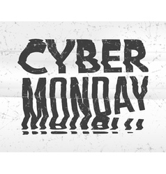 Cyber Monday Sale bad photocopy distorted glitch vector image