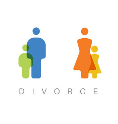 divorce concept vector image