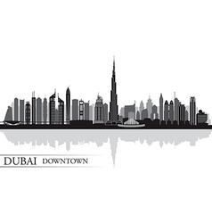Dubai Downtown City skyline silhouette background vector image