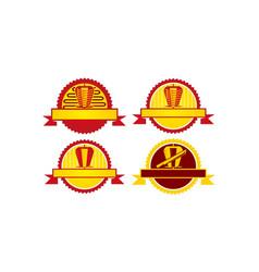 emblem kebab icon template set vector image