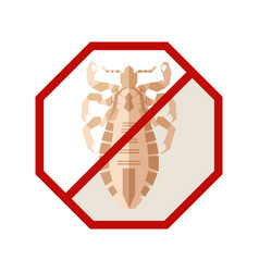 flat geometric sign with louse vector image