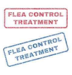 flea control treatment textile stamps vector image