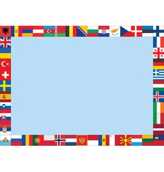 frame made of European flags vector image