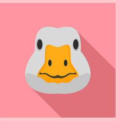 goose head icon flat style vector image