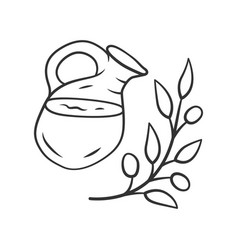 herbal ice tea jar linear icon summer natural vector image