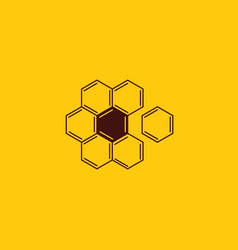 honey comb and beekeeping logo design flower vector image