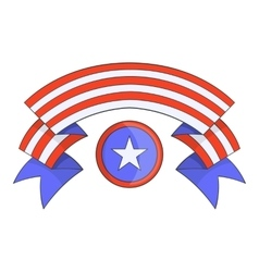 Independence day band icon cartoon style vector