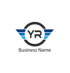 Initial letter yr logo template design vector