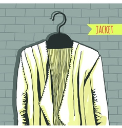 Jacket brick wall vector
