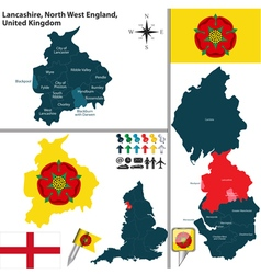 Lancashire North West England vector