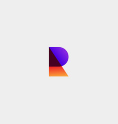 Letter r monogram simple logo template vector