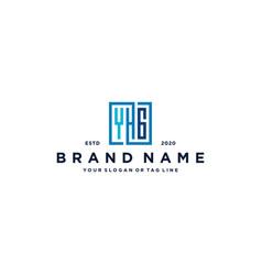 Letter yhg square logo design vector