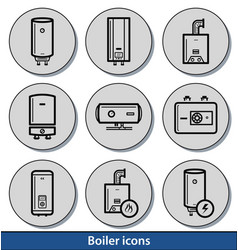 Light boiler icons vector