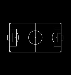 line of football field or soccer field background vector image