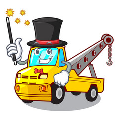 Magician tow truck for vehicle branding character vector