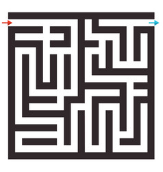 Maze on white background labyrinth puzzle vector