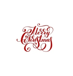 Merry christmas handwritten lettering text vector