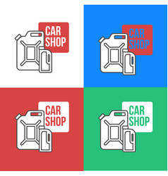 Online car oil shop icon vector
