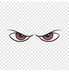 Pair of eyes watching icon cartoon style vector