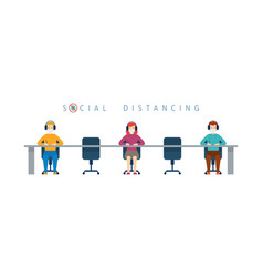 People conference social distancing concept vector