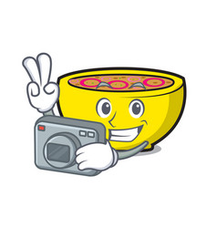 Photographer soup union mascot cartoon vector