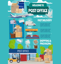 post office mail transportation shipping vector image