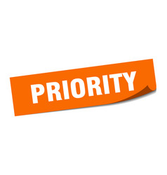 Priority sticker priority square isolated sign vector
