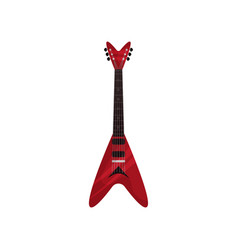 red electric guitar musical instrument vector image