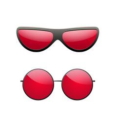 Round sunglasses 3d set summer sunglass shade vector