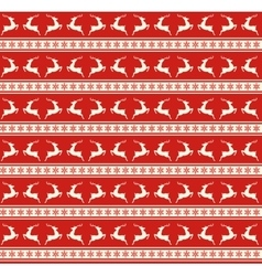 Seamless Christmas Traditional Pattern with Deers vector image