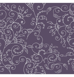 seamless flower ornament vector image