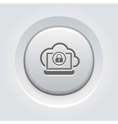 Secure Cloud Access Icon vector