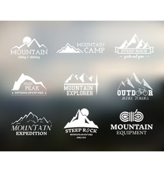 Set of Summer mountain explorer camp badge logo vector
