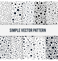 Set of ten seamless simple chaotic forms of vector