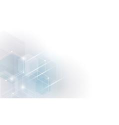 shape of hexagon concept design abstract vector image