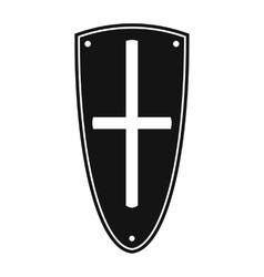 Shield simple icon vector image