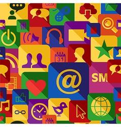 Social media seamless pattern set vector image