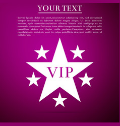 Star vip with circle of stars on purple background vector