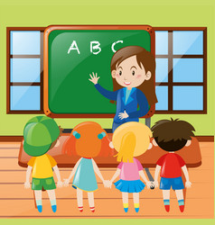 teacher teaching in classroom vector image